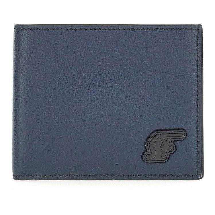 深藍色牛皮短夾,15,900元。圖/Salvatore Ferragamo提供