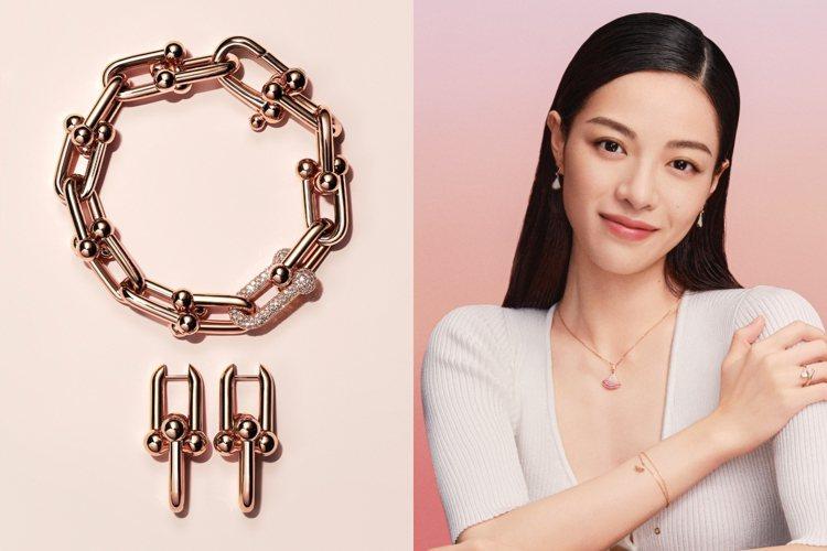 七夕情人節將至,珠寶品牌推出適合贈禮的珠寶。圖/Tiffany、寶格麗提供