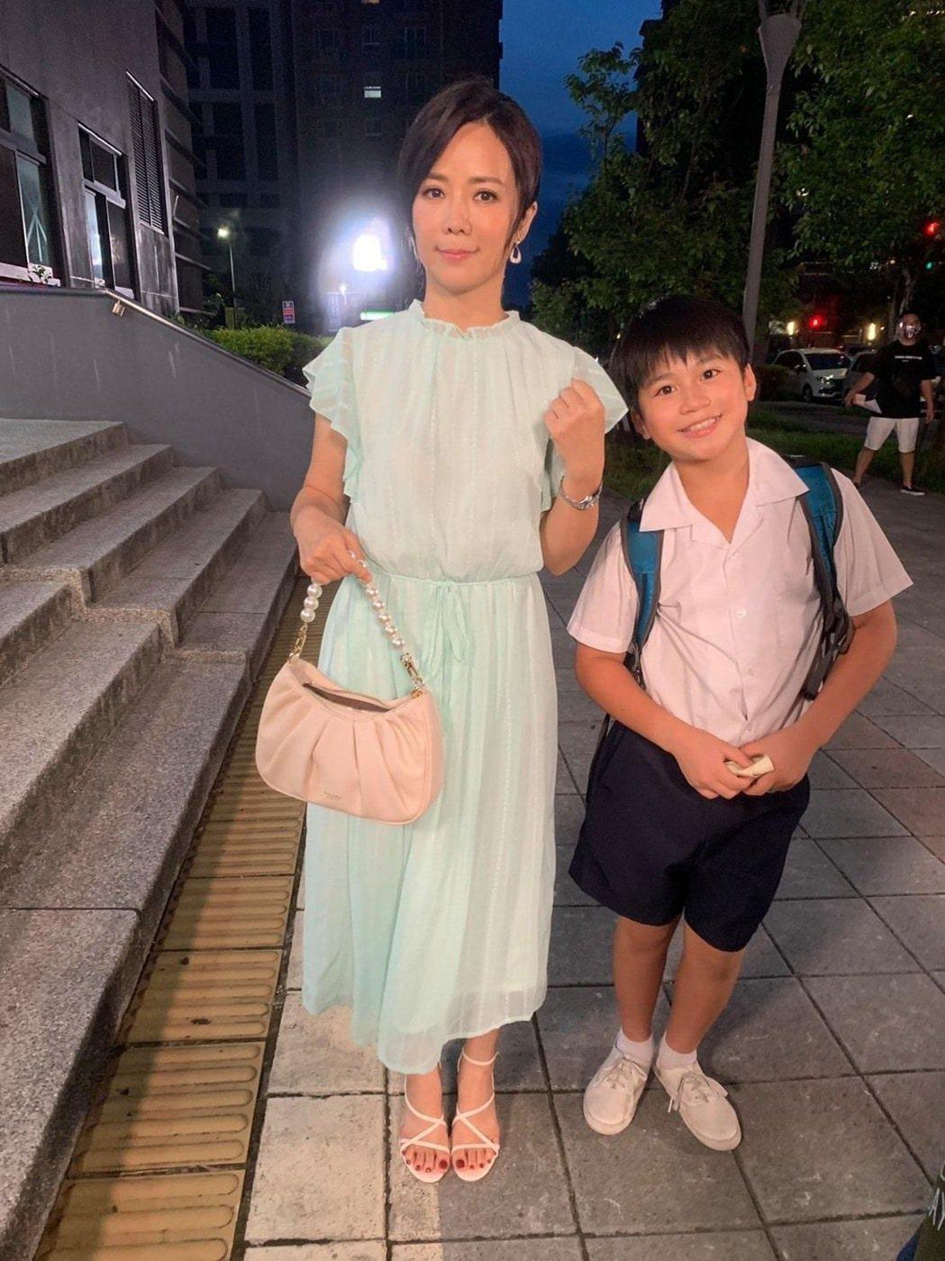陳仙梅和飾演兒子麥海淇的母子互動戲感人。圖/民視提供