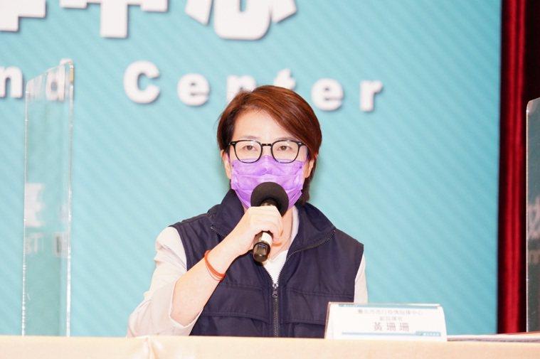 台北市副市長黃珊珊表示,目前已匡列曾去建國花市的600位民眾,會發送實聯制簡訊通...