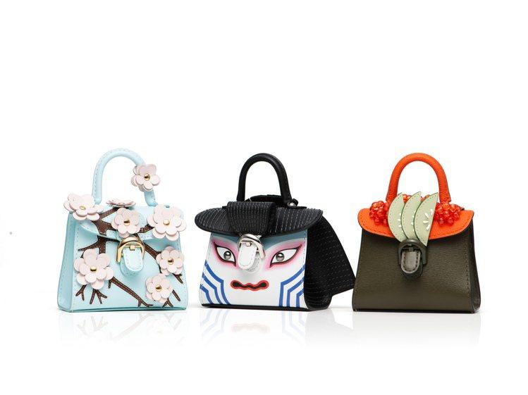 Miniatures迷你包掛系列-日本主題。圖/Delvaux提供