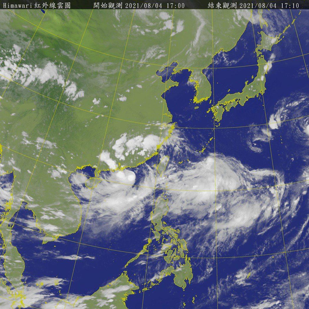 中央氣象局持續針對盧碧發布海上颱風警報。圖/氣象局