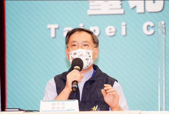 北市副市長蔡炳坤表示,目前台北市的疫苗接種,第一劑覆蓋率達到45.3%,,努力往...