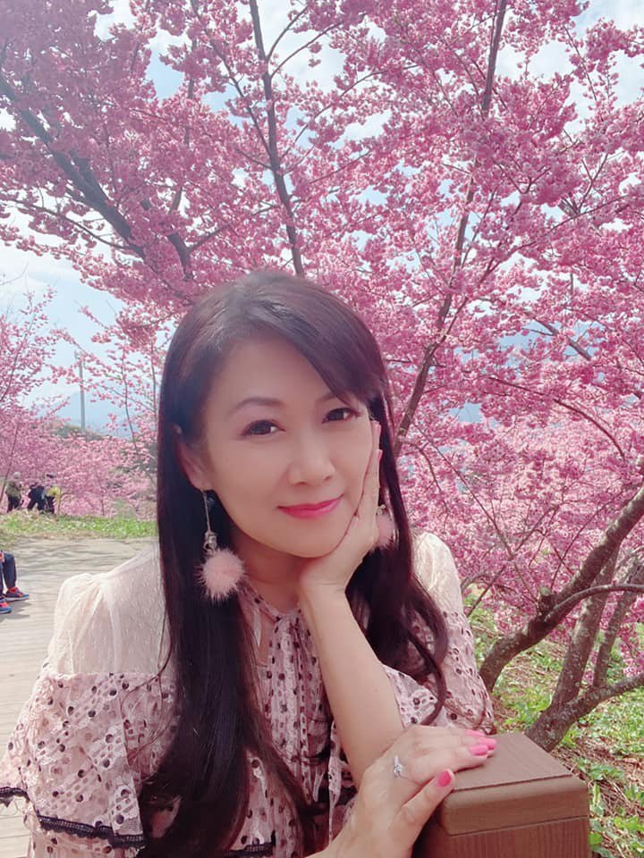 張金鳳是蕭大陸前女友。圖/摘自臉書