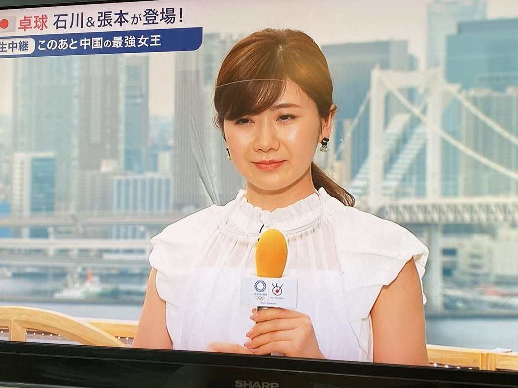 福原愛在奧運期間擔任電視台球評。圖/擷自推特