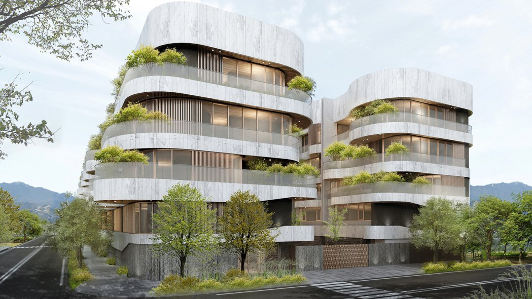 「名人居」大面積植栽,打造都市中的森林美地。 圖/清景麟提供