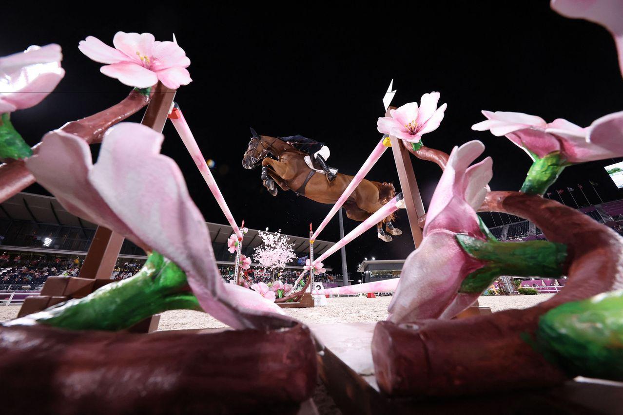 <u>圖輯</u>/和服、相撲、櫻花成主設計 奧運馬術賽場濃濃日本味