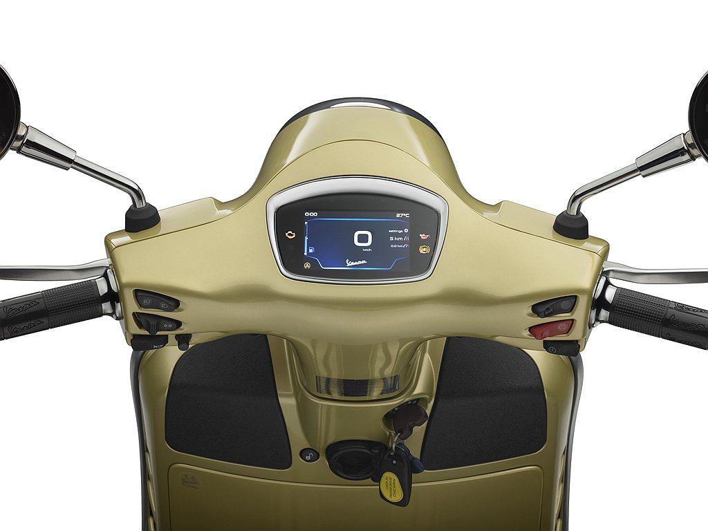 偉士牌75週年特仕版的GTS 300與Primavera 125都配有4.3吋全...
