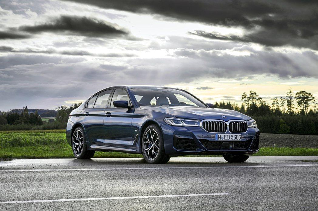 BMW 5 Series今年上半年銷量增長超過三成。圖為小改款G30 LCI車型...