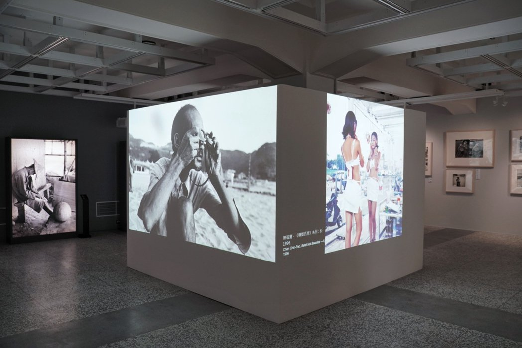 策展人黃建亮以67位攝影家的點狀作品,連成更有重量感的線與面,透過大量影像談論臺...