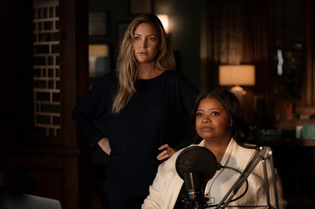 凱特哈德森(左)、奧塔維亞史班森(右)在「直言真相」第2季同台飆戲。圖/APPL...