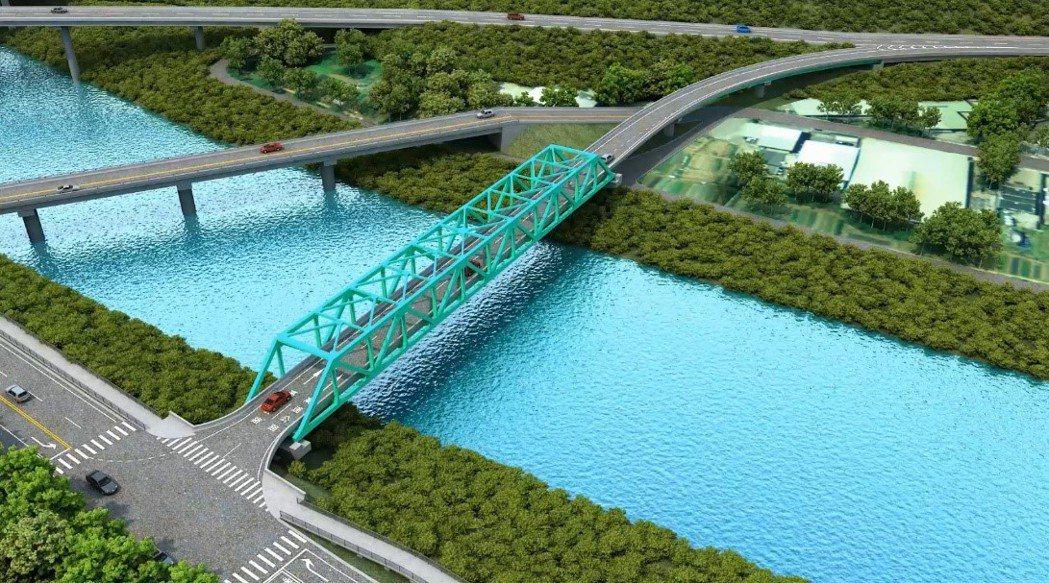 國道1號汐止交流道將增設南下入口匝道(模擬圖)。圖/新北交通局提供