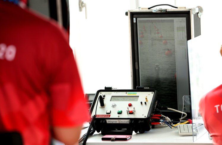 划船水道上的數據、畫面,都將即時匯流整合傳送至OMEGA的計時評審室中。圖 / ...