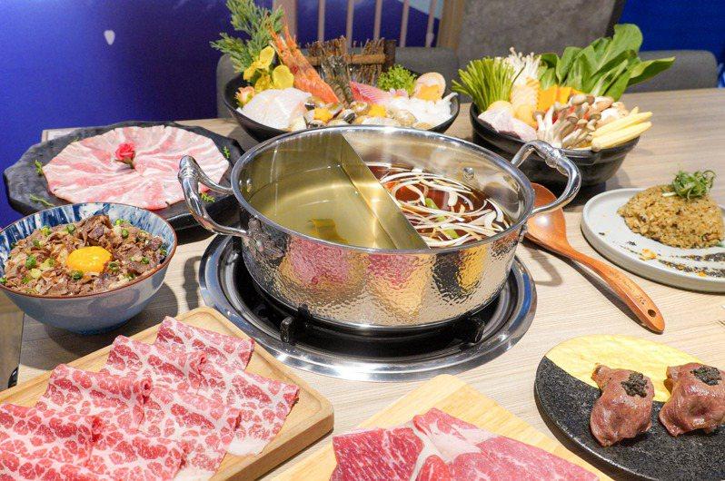 涮樂提供有399~699元的吃到飽方案。圖/涮樂和牛鍋物提供