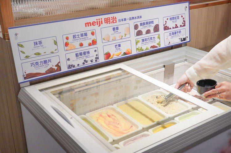 甜點區無限供應明治冰淇淋。圖/涮樂和牛鍋物提供