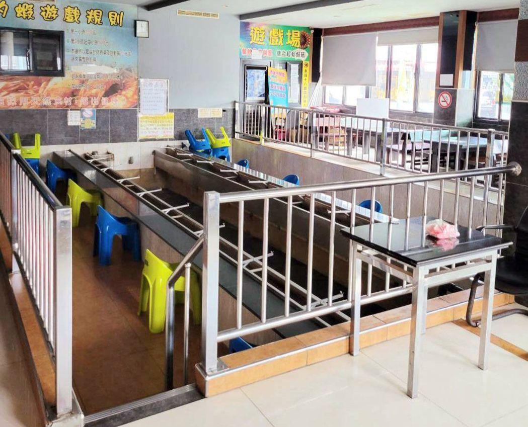 高雄市今宣布,有條件開放釣魚蝦場復業,場內釣蝦場開放內用,需比照餐飲指引架隔板、...