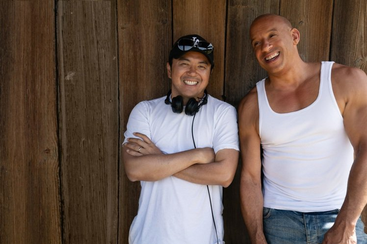 馮迪索(右)與林詣彬多年合作培養出像兄弟般的情誼。圖/UIP提供