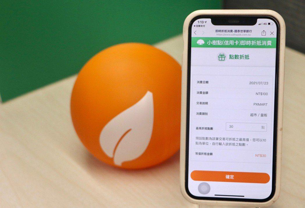 「CUBE卡」卡友刷卡後,可立即透過網銀App等多個數位平台,以消費累積回饋的小...