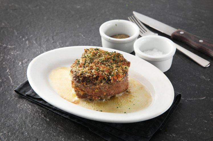 美國菲力牛排佐香酥松露。圖/茹絲葵牛排館提供。