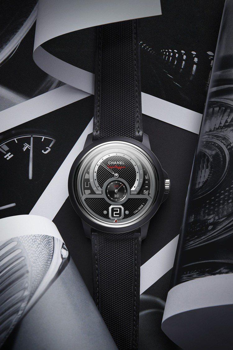 香奈兒MONSIEUR Superleggera腕表,42毫米黑色霧面高抗磨陶瓷...