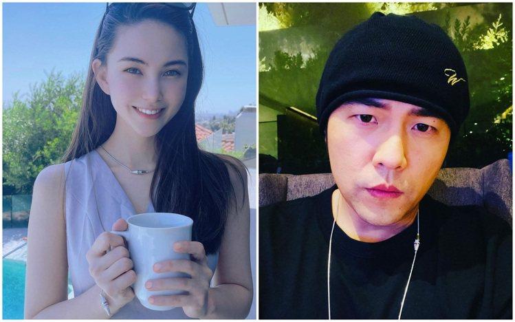 周杰倫與昆凌今日意外在ig配戴同系列珠寶、大秀恩愛。圖 / 翻攝自ig(合成圖)