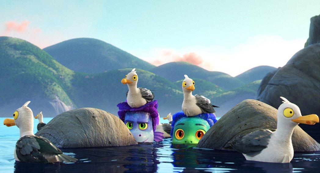 「路卡的夏天」致敬費里尼、宮崎駿等大師。圖/迪士尼提供