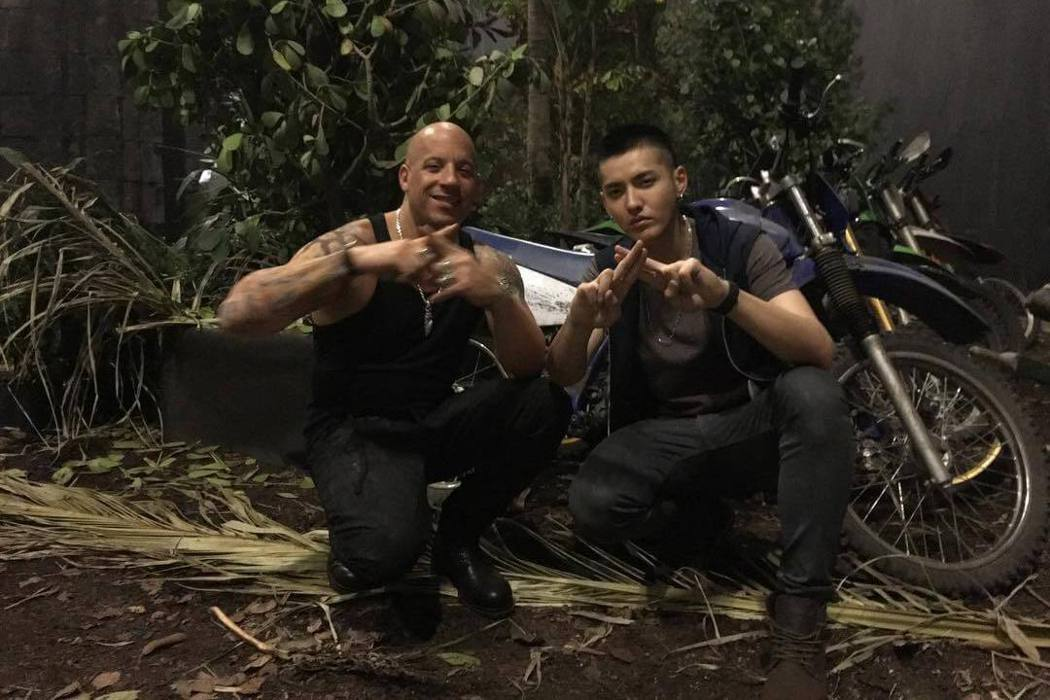 馮迪索曾與吳亦凡合作好萊塢動作片「限制級戰警3:重返極限」。圖/摘自推特