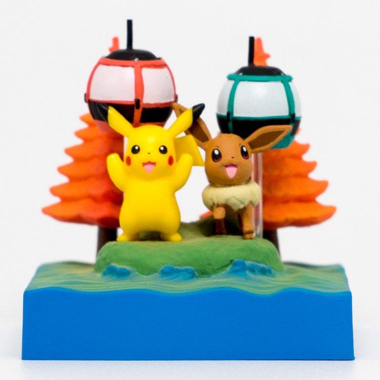7-ELEVEN獨家推出「寶可夢情境公仔食玩組」,共4款,每款售價349元。圖/...