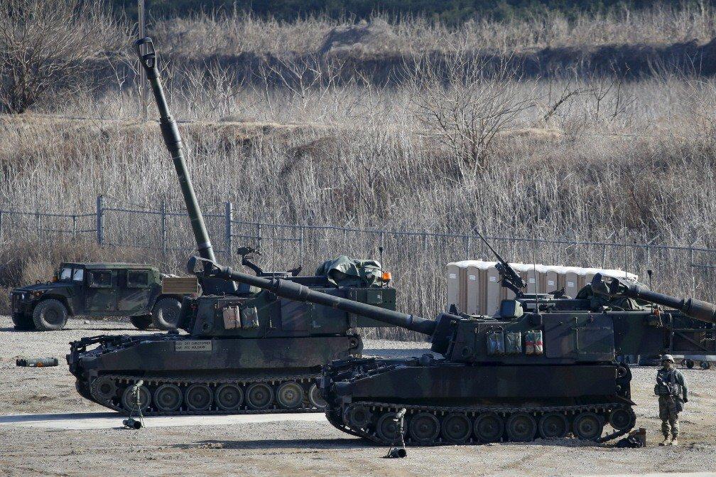 國軍此次向美採購M109A6自走砲系統,雖然終於功德圓滿,但其間所遭遇的困難顯具指標意義,值得軍方和政府高層注意,並研擬對策。攝於2016年 圖/路透社