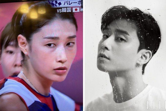 南韓「排球女帝」金軟景被認為撞臉朴敘俊。圖/擷自news.mt.co.kr