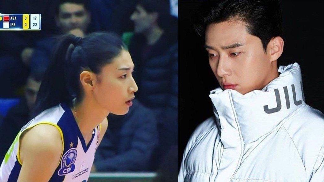 南韓「排球女帝」金軟景被認為撞臉朴敘俊。圖/擷自theqoo