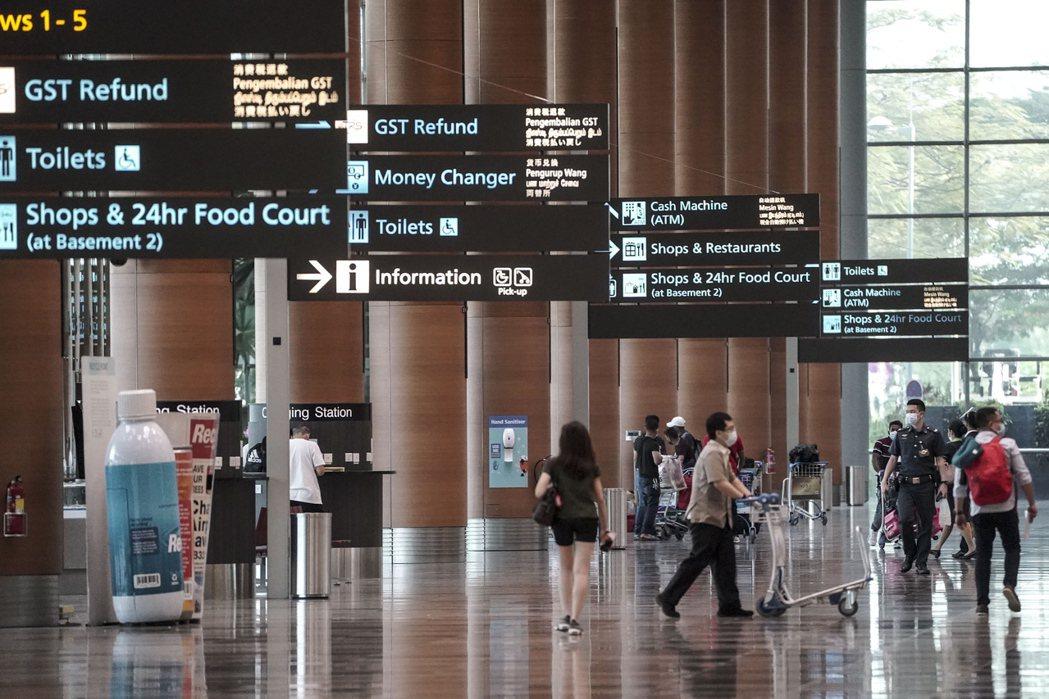 新加坡樟宜機場。歐新社