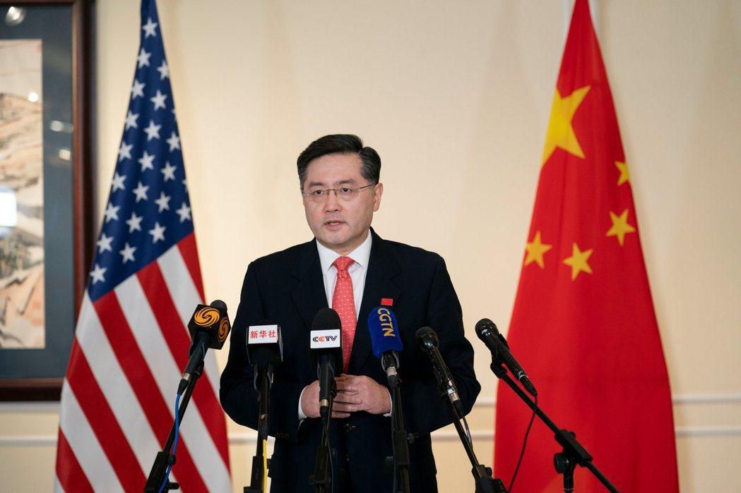 中國大陸駐美國大使秦剛。圖/取自秦剛推特