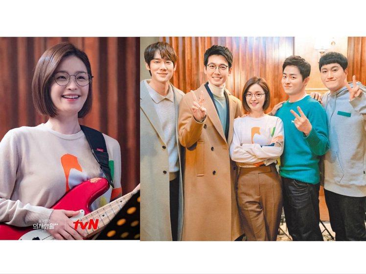 田美都身穿劇有藝術氣息的AKRIS針織衫。圖/取自tvN IG、NETFLIX提...