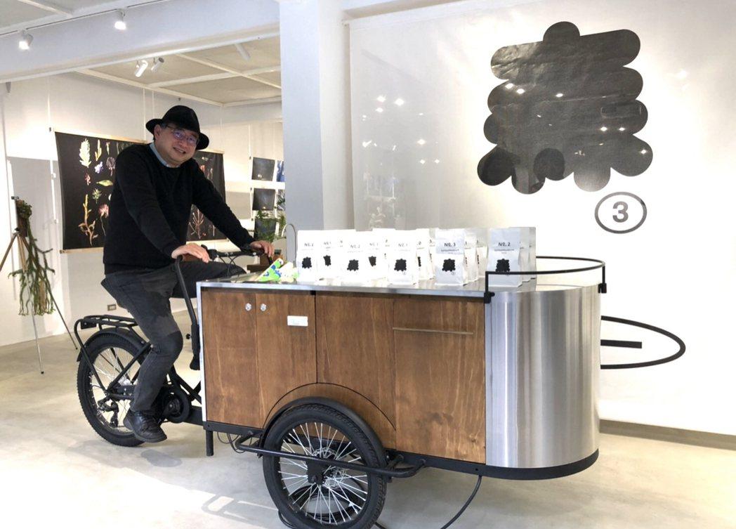 咖啡攤車,是車輛的機械功能與咖啡機的機械美學,形成了現代都市生活的新面貌。圖/李...