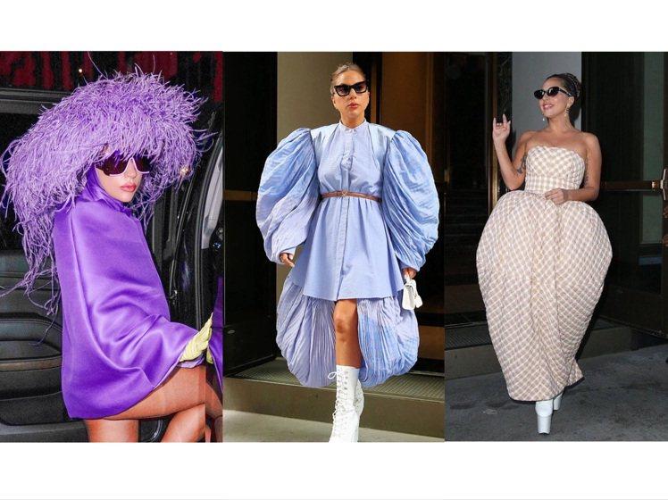 近日Lady Gaga的穿搭輪廓,都有著宛如深海動物般的神祕氣息。圖/取自IG_...
