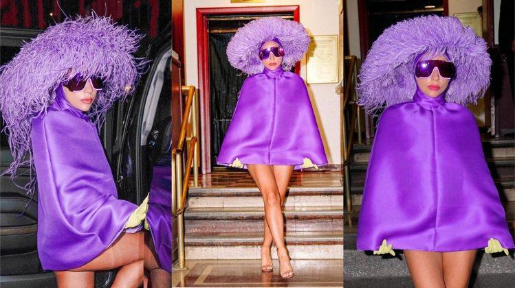 Lady Gaga身穿VALENTINO高級訂製服系列,搭配Marc Jacob...