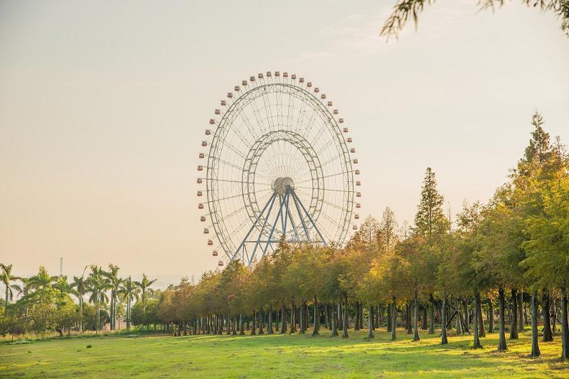 來麗寶樂園可以一次購買天空之夢摩天輪搭乘券+落羽松秘境門票;圖片/欣傳媒資料