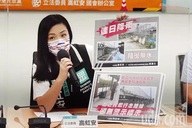 民眾黨立委高虹安問政能力強,近期開始關注新竹議題。圖/聯合報系資料照片