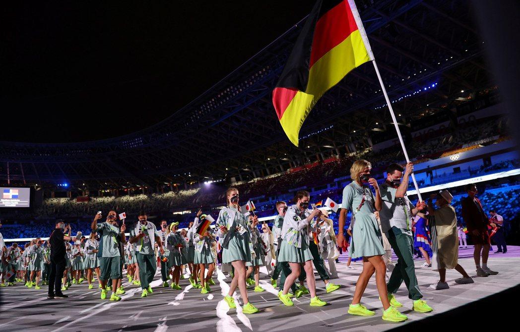 德國為傳統體育強國,但此次在東奧的表現低迷,圖為上月參加東奧開幕式的德國代表團。