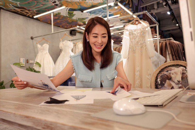 賈永婕事業心強,多年來經營婚紗店做得有聲有色,也建立自己的品牌。攝影/李政龍