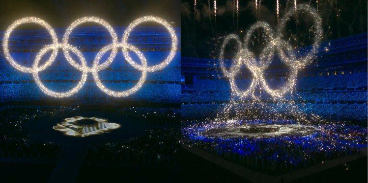 東京奧運閉幕式,聲光效果俱佳。圖/摘自Olympics、Tokyo2020 in...