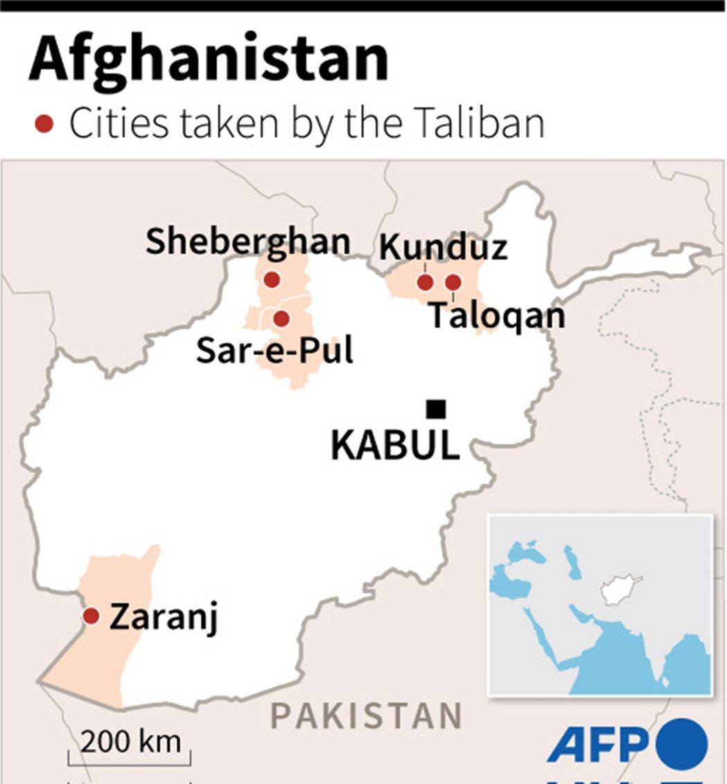 短短72小時內,塔利班就各自在南北邊境,一口氣攻陷了5座省會大城,這不僅是戰爭多...