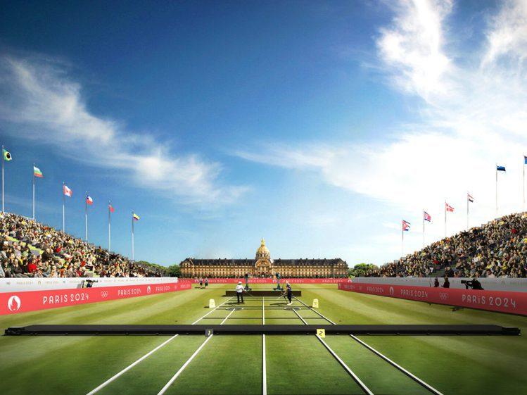 建於1687年的榮軍院前則是巴黎奧運射箭場。圖/摘自paris2024.org