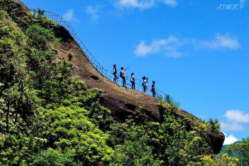 平溪小黃山中的普陀山,壯觀的巨岩峭壁,讓人望之興嘆。