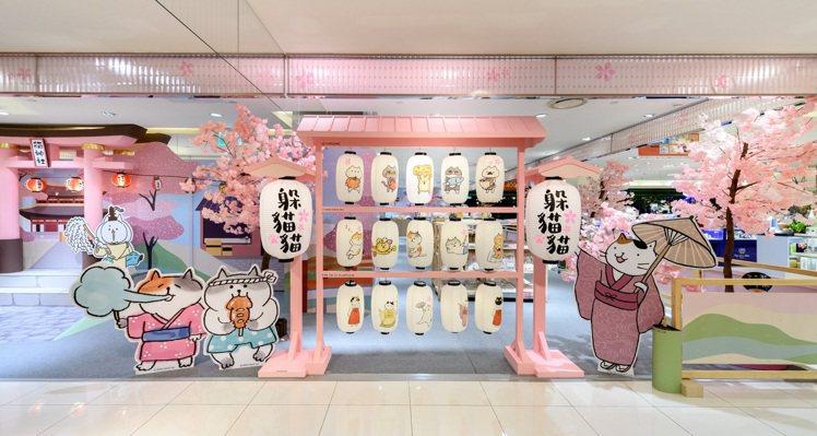 櫻花神社燈籠區。圖/夢時代提供