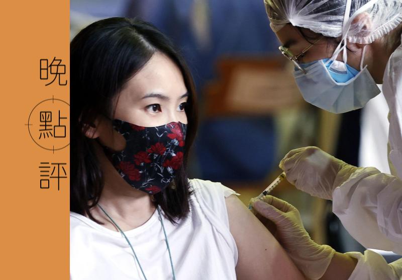 蔡政府近日不斷宣傳我疫苗覆蓋率快速爬升,但其中超過半數是靠美國、日本與立陶宛捐贈。 記者侯永全/攝影