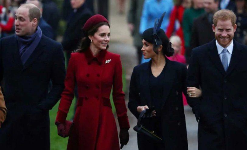 凱特(左二)與梅根(右二)在公眾眼前沒交惡,但私下也非朋友。(路透資料照片)