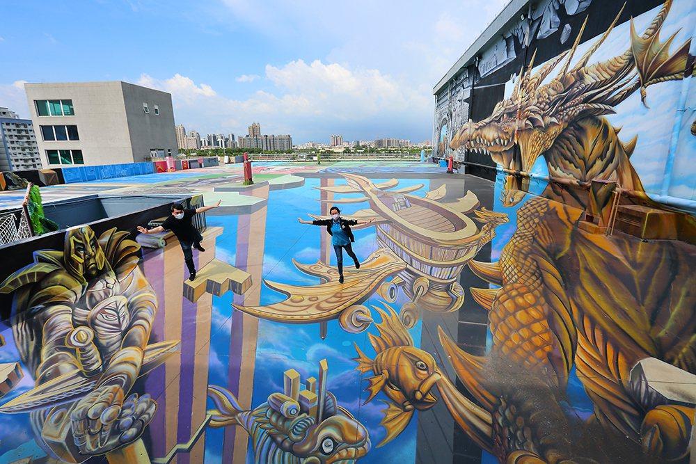 天空之城位於詩舒曼蠶絲文化園區頂樓,號稱擁有全臺最大規模的3D立體彩繪。新登場的...