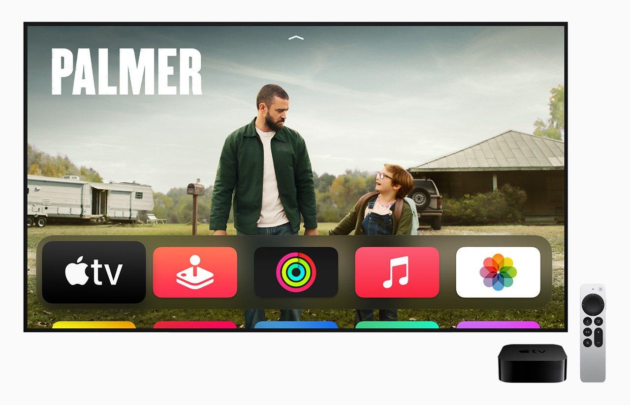 Apple TV 4K,讓爸爸盡情享受大螢幕娛樂。 圖/蘋果提供